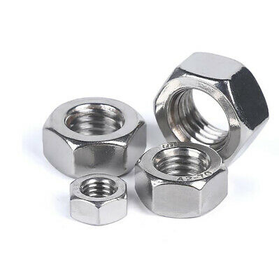 $1.69 • Buy A4 Stainless Steel - M2 To M24 Hex Full Nuts DIN 934 Hexagon Nut For Screw Bolts