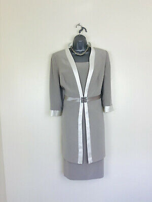 £179 • Buy 🌺Ronald Joyce Veni Infantino Size 12 Taupe Ivory Mother Of Bride Or Groom