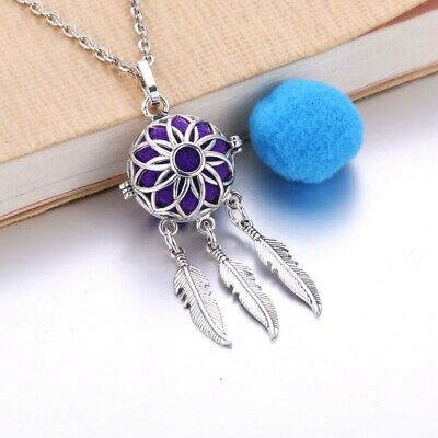AU1.34 • Buy New Aromatherapy Necklace Vintage Locket Pendant Essential Oil Diffuser Necklace