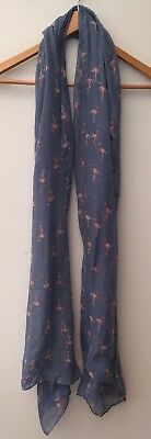 £1.99 • Buy Scarf Blue With Flamingo Print<NH12956