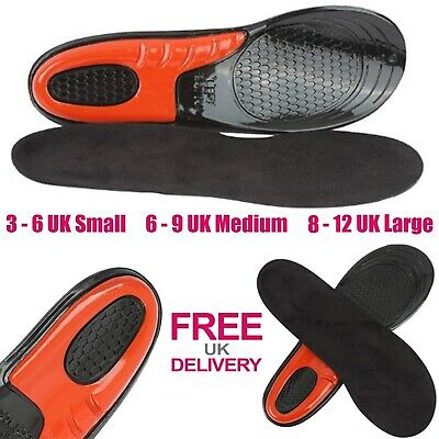 £5.95 • Buy Work Boot Insoles Hiking Trainer Inner Soles Foot Inserts Silicone Gel UK Sizes