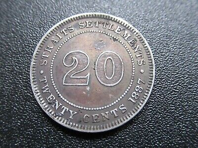 £1.20 • Buy British Straits Settlements , Silver 20 Cents , Queen Victoria , 1887