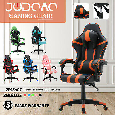 AU149.90 • Buy Upgraded Computer Gaming Chair Executive Office Seat Racer Recliner PU Leather