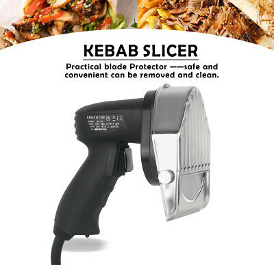 £105.45 • Buy GZZT Electric Doner Kebab Slicer Shawarma Meat Cutter Stainless Steel Knife 80W