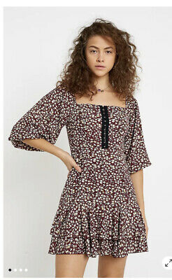 AU27.67 • Buy Urban Outfitters Kiss The Sky Autumnal Park Dress Size S