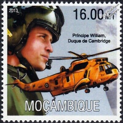 £1.99 • Buy PRINCE WILLIAM Sea King Helicopter Aircraft / RAF Air Sea Rescue Stamp #1 (2013)