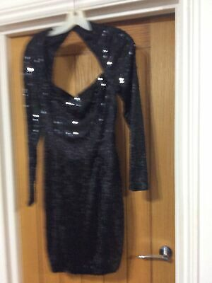 £7 • Buy Ladies Dress Size 12 Used Black Worn Once After Six By Ronald Joyce London