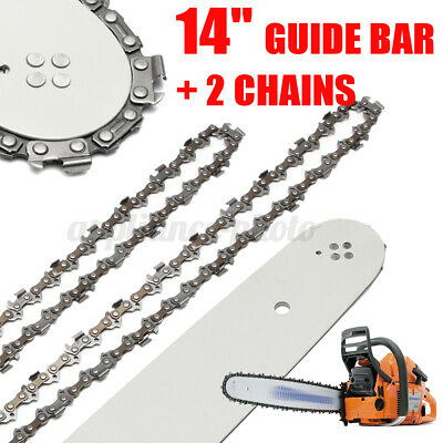 £16.95 • Buy 14''/35cm Steel 3/8''  Guide Bar For Stihl Chainsaw+2 Chains 017 MS170 MS171