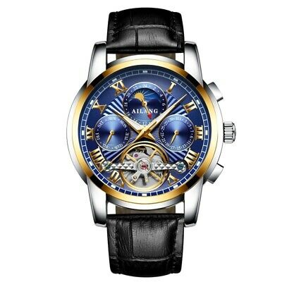 $ CDN0.01 • Buy Men's Luxury Watch AILANG Automatic Mechanical Leather Top Brand Business Watch