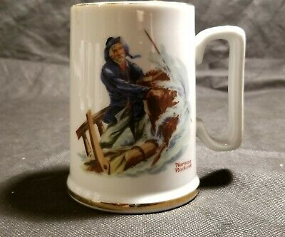 $ CDN6.85 • Buy 1986 Norman Rockwell Museum Collection Braving The Storm Coffee Mug