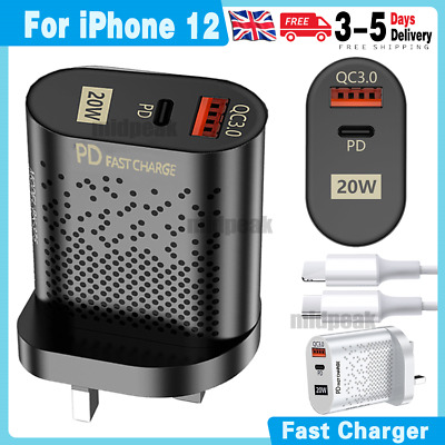 £6.99 • Buy 20W 2-Port Fast USB C Wall Charger PD Power Adaptor Compatible For IPad Pro UK