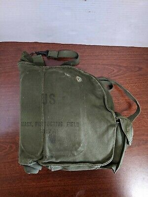 $99.99 • Buy US Army Vietnam Era M17A1 Protective Field Gas Mask & Carrying Bag + Accessories