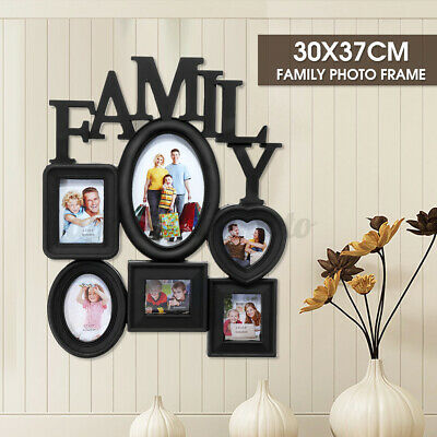 £9.89 • Buy Family Photo Frame Wall Hanging 6 Pictures Memory Holder Display Decor Gift UK