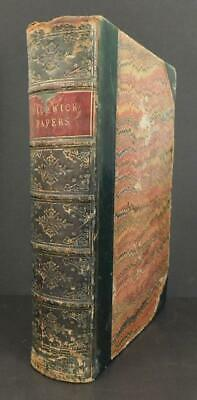 £54.99 • Buy Antique Leather Charles Dickens Book Posthumous Papers Pickwick Club Phiz Illust