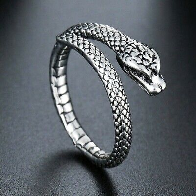£2.82 • Buy Snake Adjustable Silver Color Ring For Men & Women Fashion Jewelry Gift