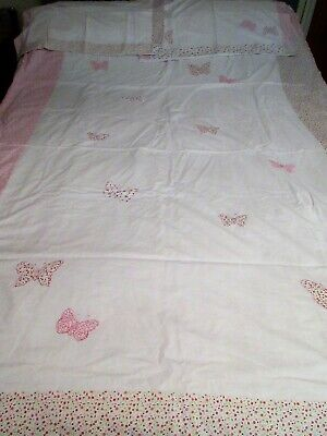 £15 • Buy Laura Ashley Bella Butterfly Duvet Cover And 2 Pillowcases 100% Cotton