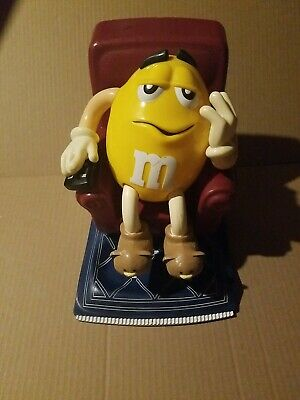 $20 • Buy Vintage M&M Candy Dispenser Recliner Chair W/remote Yellow