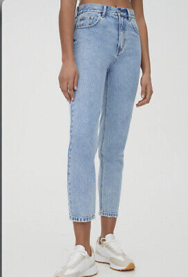 AU14.76 • Buy Pull And Bear Mom Jeans Light Blue Denim Size 8