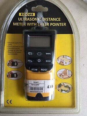 £14.99 • Buy Bnwt Focus Ultrasonic Distance Meter With Laser Pointer