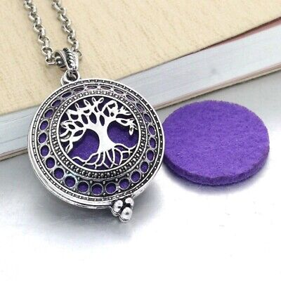 AU1.31 • Buy Silver Locket Necklace Fragrance Essential Oil Aromatherapy Diffuser Pendant