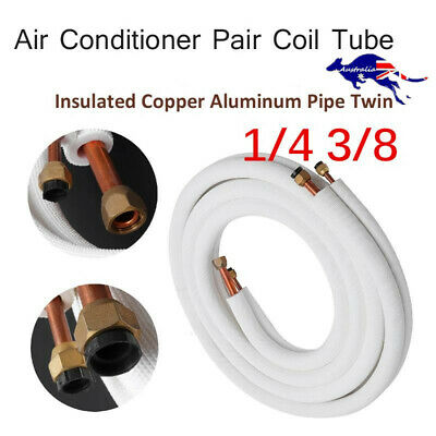 AU31.30 • Buy Insulated Pipe 1/4'' 3/8'' Air Conditioner Pipes Pair Coil Tube Split Line Wire