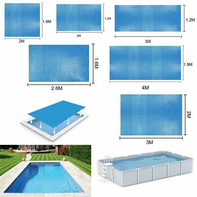 £16.59 • Buy 6 8 10 13Ft Rectangle Solar Pool Cover Swimming Pool Sheet Keep Warm Dust-proof