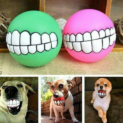 £2.59 • Buy Indestructible Solid Rubber Ball Dog Toy Training Chew Play Fetch High R7G3