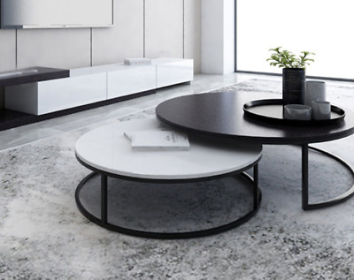AU159 • Buy New Synergy 2 In 1 Designer Coffee Table (Black And White)