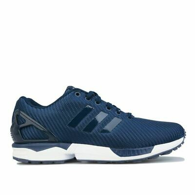 AU99.51 • Buy Men's Adidas Originals ZX Flux Lace Up Casual Trainers In Blue