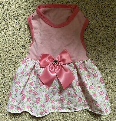 £5 • Buy BNWOT Small Dogs Pink Pretty Dog Dress Outfit Fit Maltese Bichon Yorkie NEW