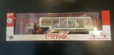 $139 • Buy M2 Machines Coca-Cola 1966 Ford C-600 Hauler & 1966 Mustang RC02 Raw 250 Chase