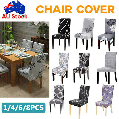 AU5.78 • Buy 1-8 PCS Dining Chair Covers Spandex Stretch Cover Washable Wedding Banquet Party