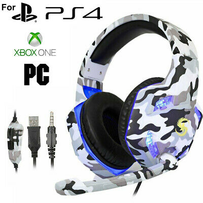 AU27.89 • Buy Gaming Headset USB Wired LED Headphones Stereo With Mic For PC Desktop & Laptop