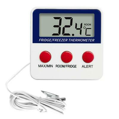 AU14.30 • Buy Digital LCD Thermometer Temperature Monitoring With External Probe For Fridge