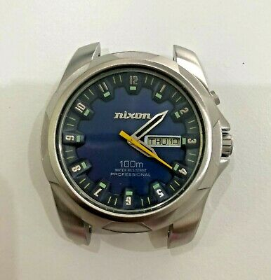 £45 • Buy Nixon The Rover Quartz , Blue Dial,day Date , HEAD ONLY