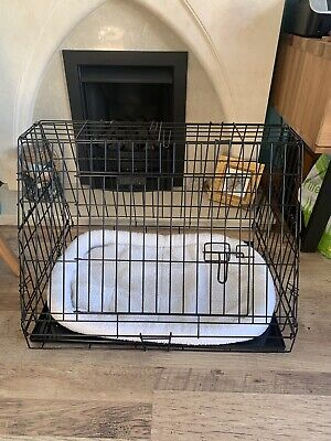 £25.99 • Buy Ellie-Bo Deluxe Sloping Puppy Crate For Car/foldable/comes With Fleece Rug/30in