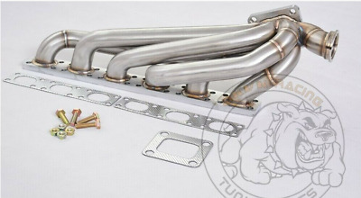 $529 • Buy 3mm SS321 T4 Top Mount Turbo Header Manifold For BMW E36 M50 M52 S50 S52 1992-98