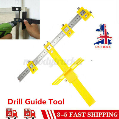 £8.99 • Buy Drill Guide Sleeve Punch Locator Cabinet Hardware Jig Drawer Pull Wood Dowel UK