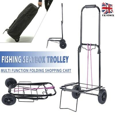 £55.99 • Buy Folding Seat Fishing Trolley Shopping Grocery Cart PUNCTURE PROOF PNEUMATIC TYRE