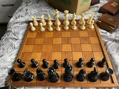 £15 • Buy Plastic Chess Set; Including Wooden Board And All 32 Pieces In Good Condition.