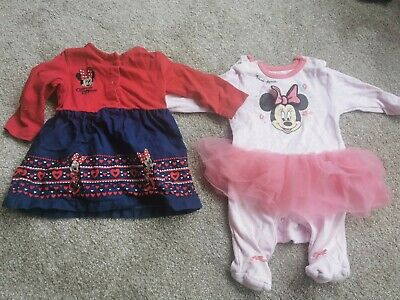 £0.99 • Buy Minnie Mouse Dress And Baby Grow 0-3 Months