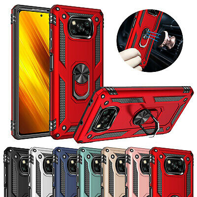 AU6.84 • Buy Phone Cover For Xiaomi Poco F2 Pro/ F3/ X3 Pro Outdoor Rugged Ring Stand Case