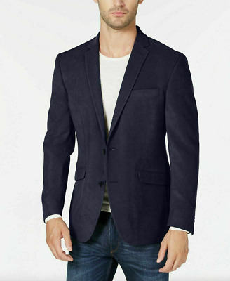 $42.50 • Buy Kenneth Cole REACTION Ultra Suede Slim Fit Blazer Navy Camo Liner Size 42L NWT