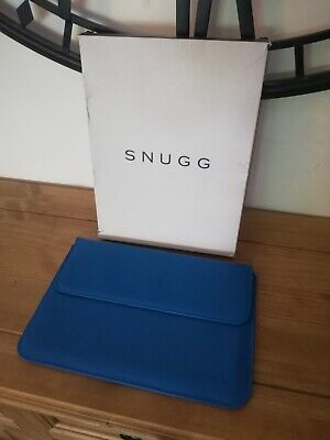 £15 • Buy Macbook Air 11 / Blue Leather Sleeve / Case By SNUGG