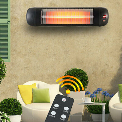 £68.95 • Buy Electric Patio Heater Wall Mounted Garden Outdoor Infrared Radiant With Remote