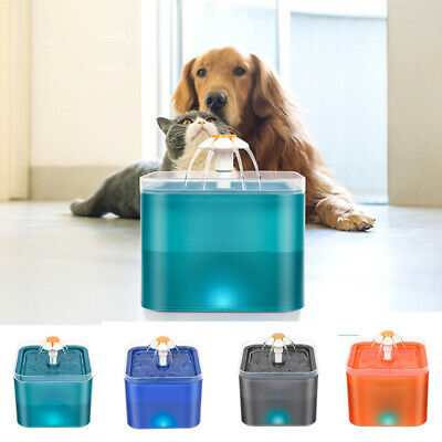 £13.98 • Buy 2L Automatic Cat Drinking Fountain With LED Lighting USB Pet Water Dispenser UK