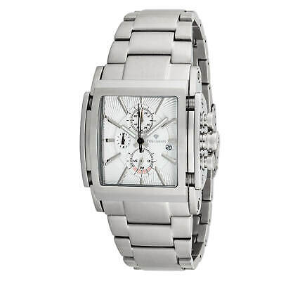 £199 • Buy YVES CAMANI ESCAUT Mens Wrist Watch Silver Chronograph Stainless Steel Strap New