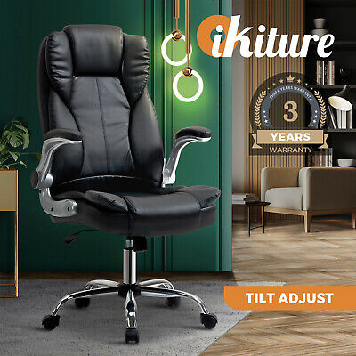 AU109 • Buy Oikiture Office Chair Chairs Recliner Executive Seat PU Leather Seating Black