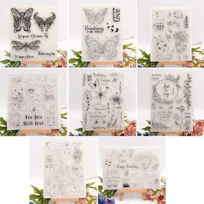£2.59 • Buy Easter Bunny Butterfly Silicone Clear Seal Stamp DIY Scrapbooking Emboss Photo