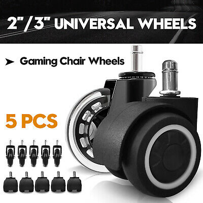 AU26.90 • Buy 2/3  Swivel Caster Wheels Rollerblade Gaming Chair Wheel Office Replacement 5pcs